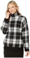 Lauren Ralph Lauren Wool-Blend Sweater (Polo Black/Mascarpone Cream) Women's Clothing
