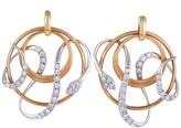 Chimento Eva 18K Rose and White Gold Diamond Pave Snake Earrings
