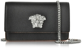 Versace Black Grainy Leather Small Pouch