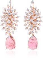 Hueb Luminous 18K Rose Gold Diamond and Pink Tourmaline Earrings