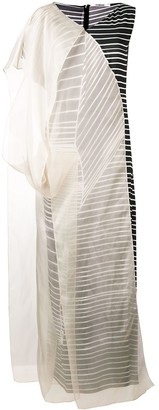 Chalayan Organza Stripe Dress