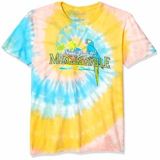 Margaritaville Men's Multi Color Spiral Tie Dye Classic Logo Short Sleeve T-Shirt Small
