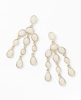 Ann Taylor Rose Gemstone Chandelier Earrings