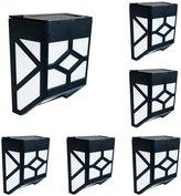 Waterproof Fence Light LED Solar Lights, Outdoor Garden for Patio Stairway Black 6 Pack TARGOPOP
