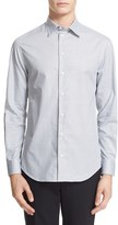 Armani Collezioni Men's Trim Fit Microcheck Sport Shirt