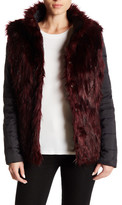Betsey Johnson Reversible Puffer Faux Fur Jacket