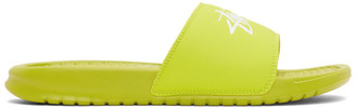 Nike Green Stussy Edition Benassi Flip Flops