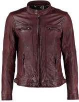 Oakwood Casey Leather Jacket Bordeaux