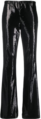 P.A.R.O.S.H. Sequin Flared Trousers