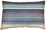 Kim Salmela Koto Embroidered 16x24 Pillow, Indigo