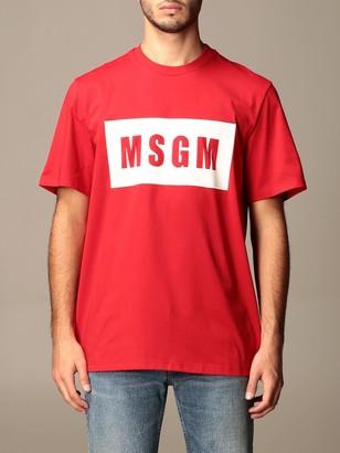 MSGM Cotton T-shirt With Logo