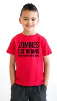 Crazy Dog T-shirts Crazy Dog Tshirts Youth Zombies Eat Brains so You're Safe T Shirt Funny Zombie Shirt for Kids L