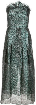 Roland Mouret Saranda metallic dress