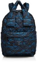 Marc Jacobs Knot Camo Print Large Nylon Backpack