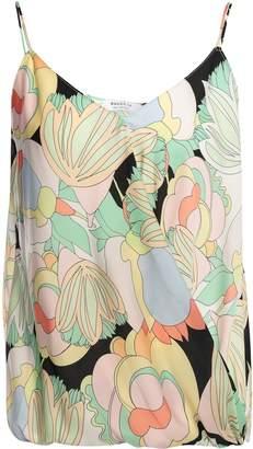 Bailey 44 Wrap-effect Floral-print Crepe De Chine Top