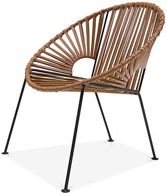 Mexa Ixtapa Lounge Chair - Camel Brown Leather