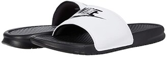 Nike Benassi JDI Slide (Black/Laser Orange/Iron Grey) Men's Slide Shoes