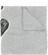 Faliero Sarti textured heart scarf - women - Silk/Modal/Cashmere/Virgin Wool - One Size