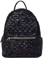 Dream Control Cleo Upscale Quilted Crush Velvet Mid Size Backpack Handbag