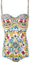 Dolce & Gabbana Majolica print swimsuit