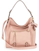 Jessica Simpson Tatiana Faux Leather Bow Hobo Bag