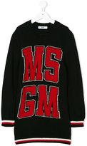 MSGM logo knitted dress