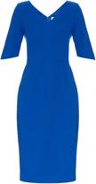 Goat Carmen V-neck wool-crepe dress