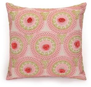 "Jessica Simpson Amrita Medallion 16""x16"" Decorative Pillow"