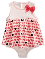 First Impressions Heart-Print Skirted Cotton Romper, Baby Girls (0-24 months), Created for Macy's