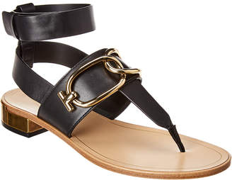 Tod's Chain Strap Leather Sandal