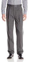 Louis Raphael Men's Rosso Washable Wool Blend Straight Fit Pleated Dress Pant