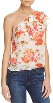Aqua Floral One Shoulder Ruffle Top - 100% Exclusive