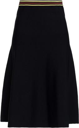 Sandro Britt Flared Stretch-knit Skirt