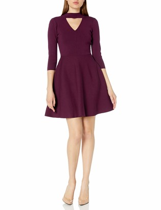 Milly Women's Cut Out Collar Flare Dress