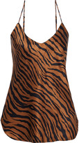 Thumbnail for your product : Nili Lotan Isabella Printed Silk-charmeuse Camisole