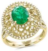 Effy Brasilica 14K Yellow Gold, Diamond and Natural Emerald Ring