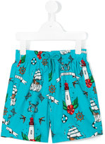 Vilebrequin Kids - Tattoo print swim shorts - kids - Cotton/Polyester/polyester - 2 yrs