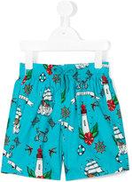 Vilebrequin Kids Tattoo print swim shorts