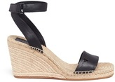 Tory Burch 'Bima' leather espadrille wedge sandals