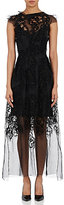 Gary Graham Women's Embellished Mousseline Gown-BLACK