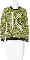 Kenzo Geometric Print Appliqué Sweatshirt