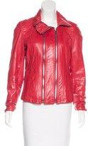 Andrew Marc Zip-Up Leather Jacket