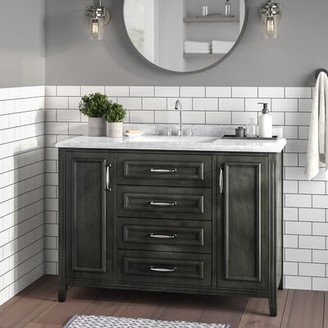 "Schulenburg 48"" Single Bathroom Vanity Set Greyleigh Base Color: French Gray"