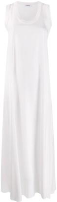 P.A.R.O.S.H. Ribbed-Trimmed Crepe Maxi Dress
