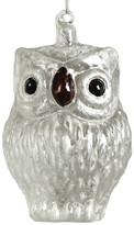 HomArt Large Frosty Owl Glass Ornament