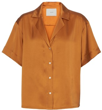 ASCENO Prague silk satin shirt