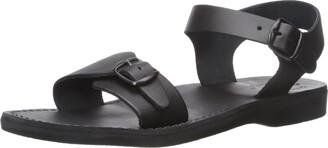 Jerusalem Sandals The Original - Leather Adjustable Buckle Sandal - Mens Sandals Black