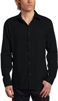 Calvin Klein Men's Slim Fit Long Sleeve Chambray Shirt