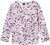 Molo Pink And Purple Eva Dog Print T-Shirt