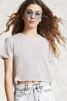 Forever 21 Raw-Cut Crop Top